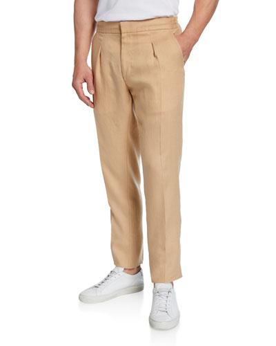 Men's Relaxed Drawstring Linen Trouser