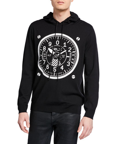 Men's Dial Graphic Pullover Hoodie