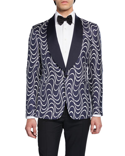 87f5fae2d Men s Wave-Pattern Shawl-Collar Formal Dinner Jacket Quick Look. Ralph  Lauren