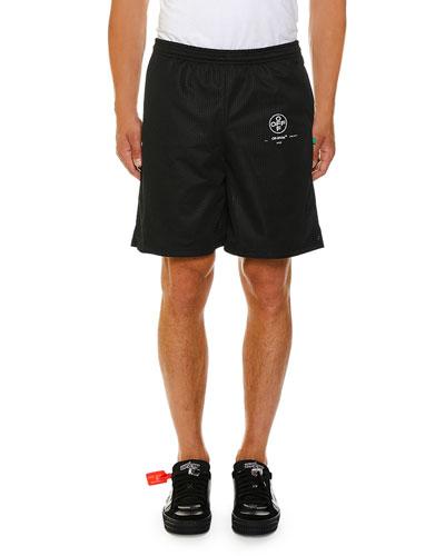 Men's Stencil Mesh Shorts