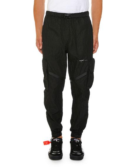 Off-White Men's No Color Parachute Cargo Pants