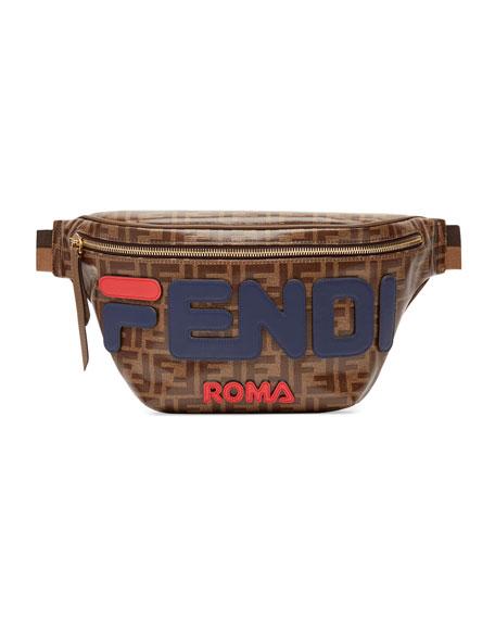 Men's Fendi Mania Coated Canvas Belt Bag/Fanny Pack