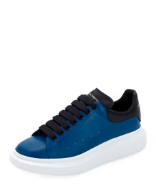 Men's Oversized Leather Low Top Sneakers by Alexander Mc Queen