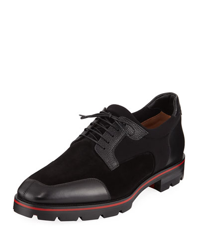 Men's Simon Neoprene/Leather Lace-Up Shoes