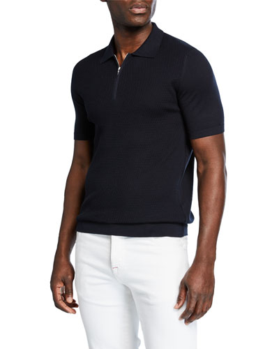 Men's Short-Sleeve Zip Polo Shirt