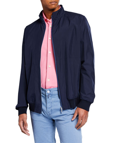 Men's Packable Bomber Jacket