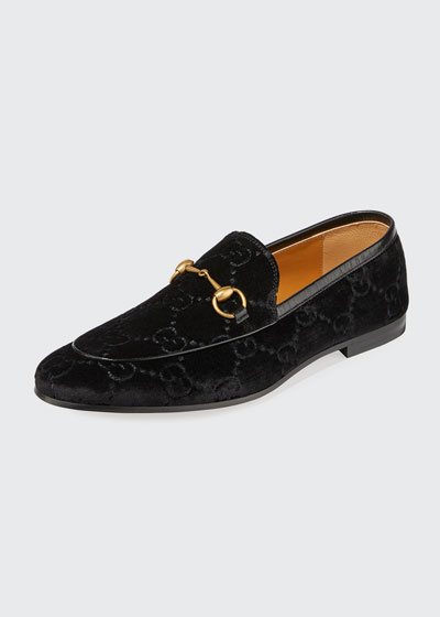 Men's Interlocking-GG Velvet Loafer