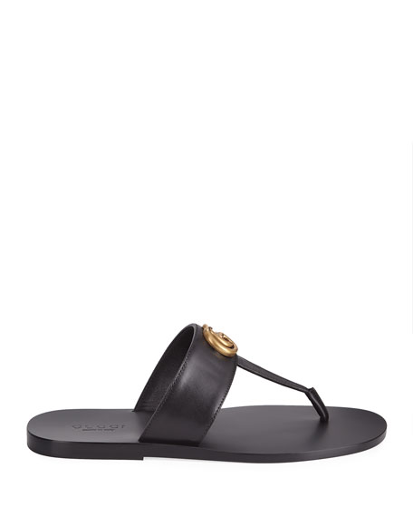 8db19c547aa Gucci Men s GG-Stud Leather Thong Sandals