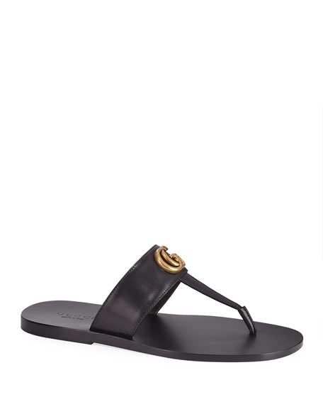591191651aea Gucci Men s GG-Stud Leather Thong Sandals