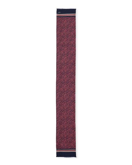 Ermenegildo Zegna Men's Foulard Silk-Blend Scarf