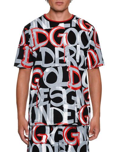 Men's Graffiti Graphic T-Shirt