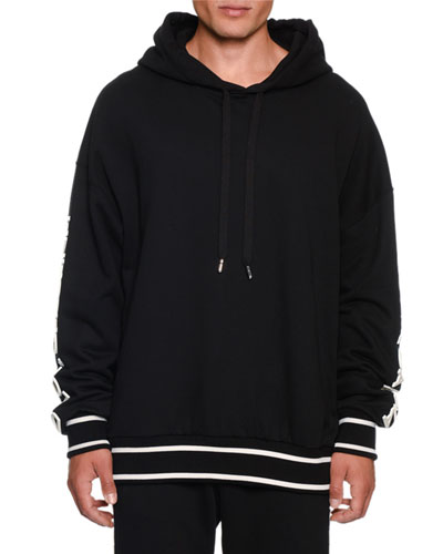Men's Hoodie With Rubber Logo
