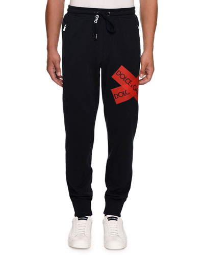 Men's Sweatpants with Logo Tape