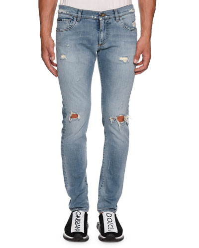 Men's Slightly Distressed Jeans