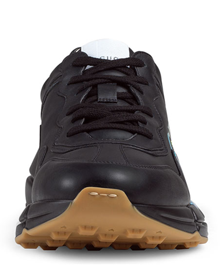Men's Rhyton Logo-Print Leather Sneaker