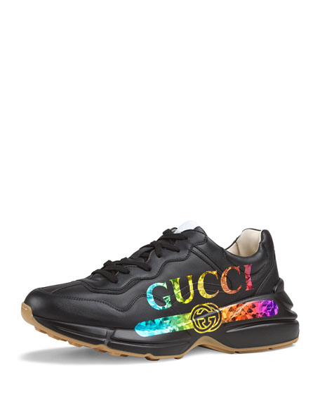 996ff2adeb8 Gucci Men s Rhyton Logo-Print Leather Sneaker