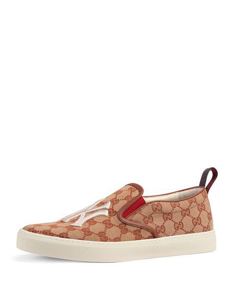 Gucci Men's GG Supreme Canvas Slip-On Sneakers