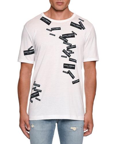 Men's Logo Label Crewneck T-Shirt