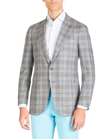 Isaia Men's Plaid Two-Button Jacket