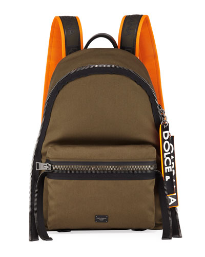 Men's Chain Canvas Backpack