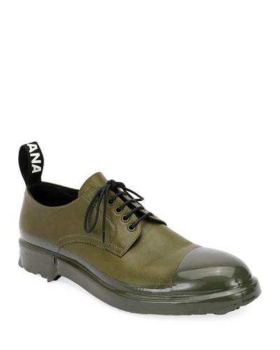Men's Leather Cap Toe Derby Shoe