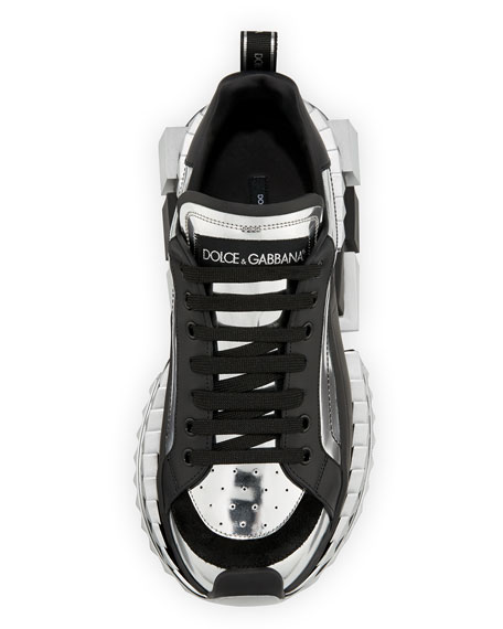 Men's Super King Metallic Trainer Sneakers