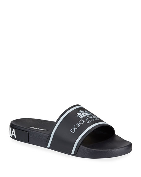 Men's Crown Logo Slide Sandals