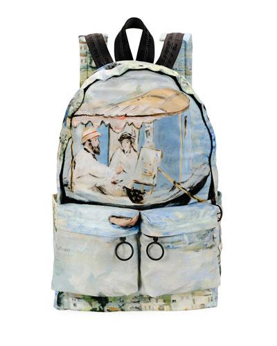 Men's Impressionist Lake Backpack
