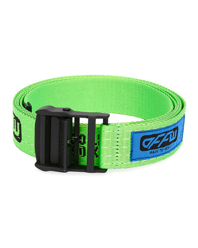 Men's Industrial Web Logo Belt