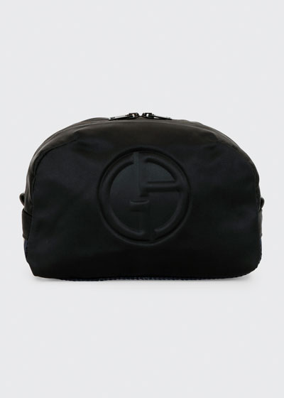 Men's Logo-Embossed Nylon Pouch