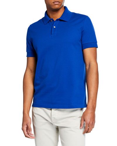 Men's 2-Button Cotton Polo Shirt