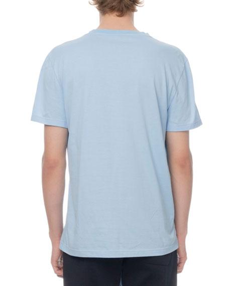 Men's Leather-Trim Jersey T-Shirt