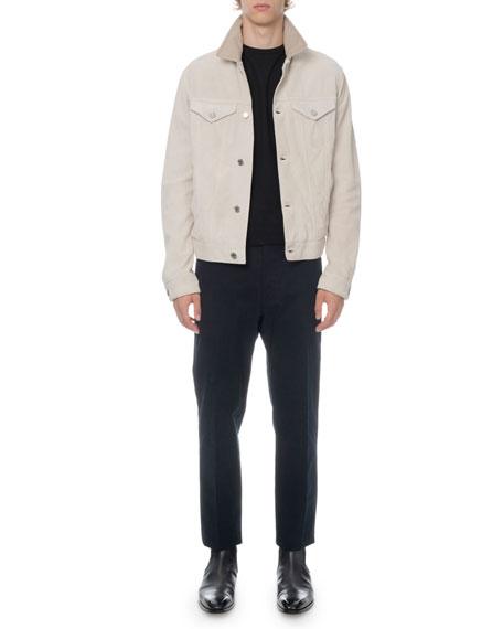 Men's Suede Button-Front Jacket