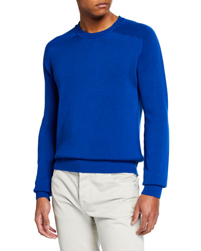 Men's Silk-Blend Crewneck Sweater