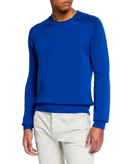 Men's Silk-Blend Crewneck Sweater