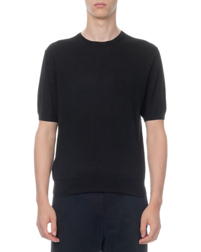 Men's Wool Short-Sleeve Knit T-Shirt