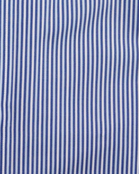 Men's Vertical Stripe Dress Shirt, Navy