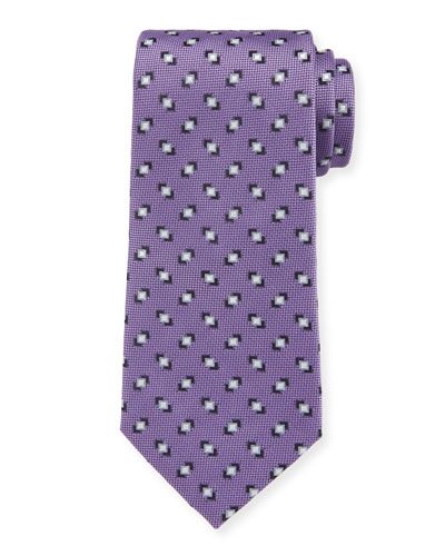 Men's Silk Printed Woven Jacquard Tie
