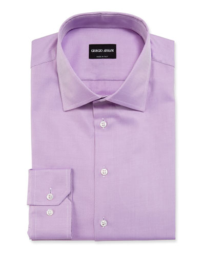 Men's Solid Twill Dress Shirt  Lavender