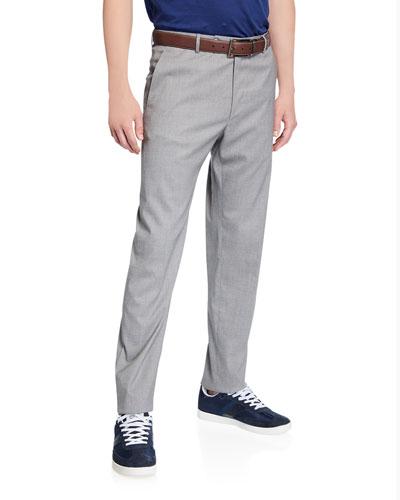 Men's Luxe Wool/Silk Pants