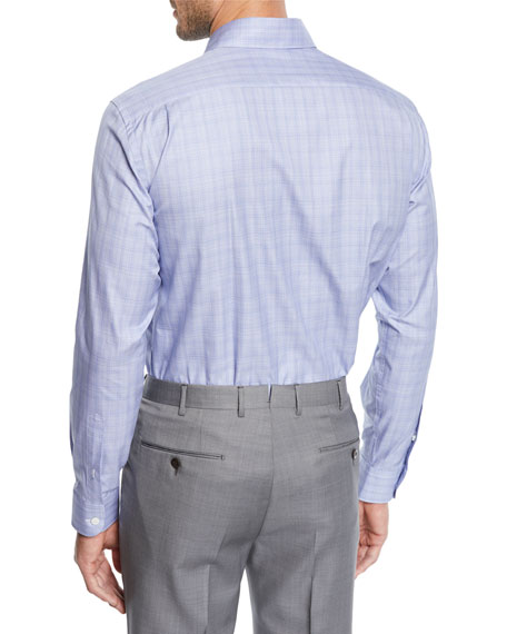 636b64cd Men's Grid Woven Sport Shirt