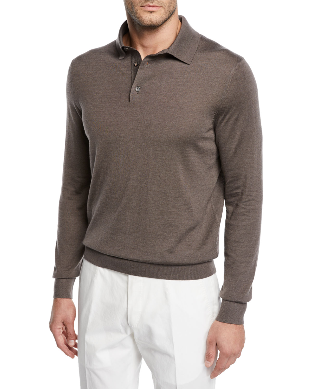 online retailer 10ae4 d671d Men's Cashmere/Silk Polo Sweater
