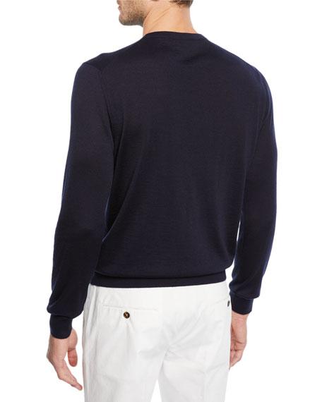 Men's Cashmere/Silk Crewneck Sweater