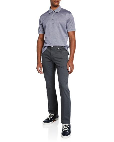 Men's 5-Pocket Straight-Leg Canvas Pants