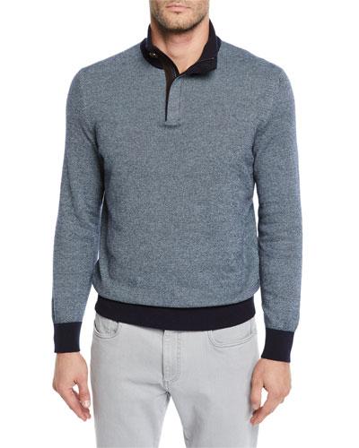 Men's Textured-Knit Mock-Neck Sweater