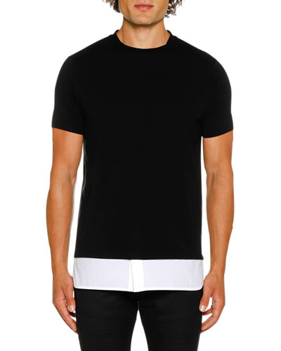 Men's Shirt Hem T-Shirt
