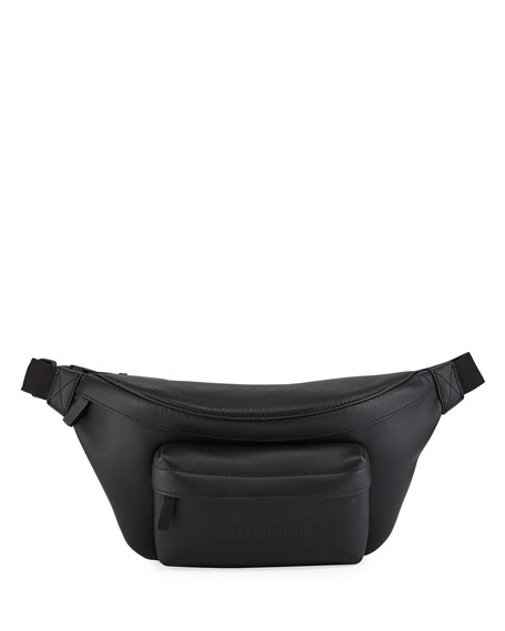 Balenciaga Men's Everyday Leather Belt Bag/Fanny Pack
