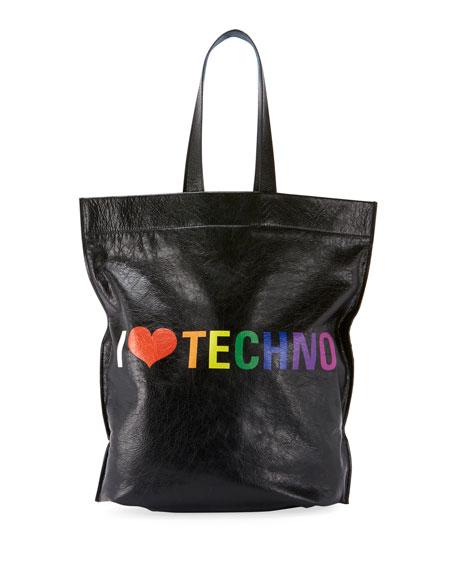 Balenciaga Men's Supermarket Shopper Tote Bag