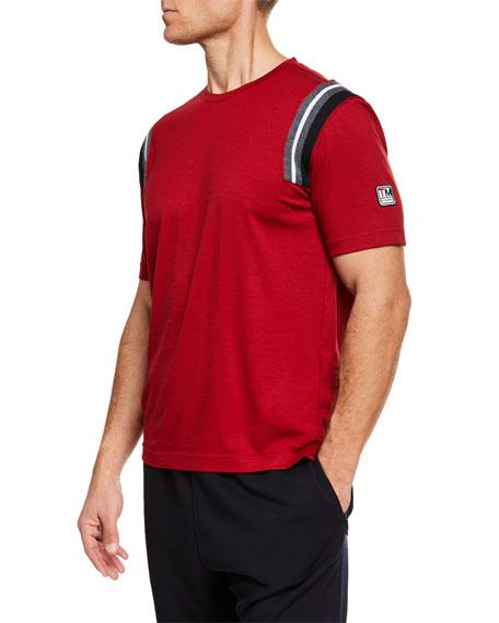 Z ZEGNA-TECHMERINO Men'S Wool T-Shirt in Dark Red