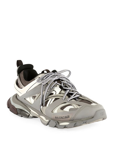 Men's Track Running Sneakers, Gray